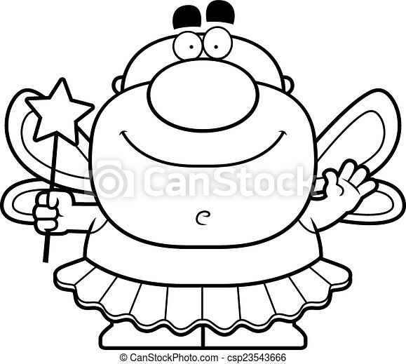 waving cartoon tooth fairy a cartoon illustration of the clip rh canstockphoto com tooth fairy clipart black and white teeth fairy clipart