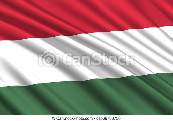 waving flag background - csp66783756