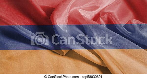 Waving Flag of Armenia - csp58030691