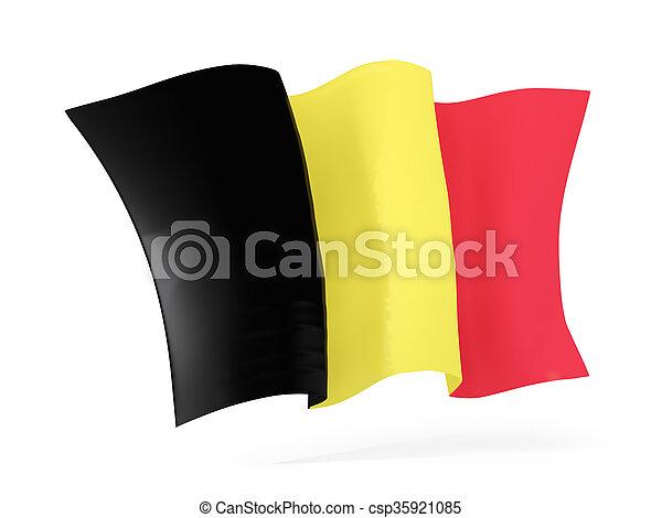 Waving flag of belgium. 3D illustration - csp35921085