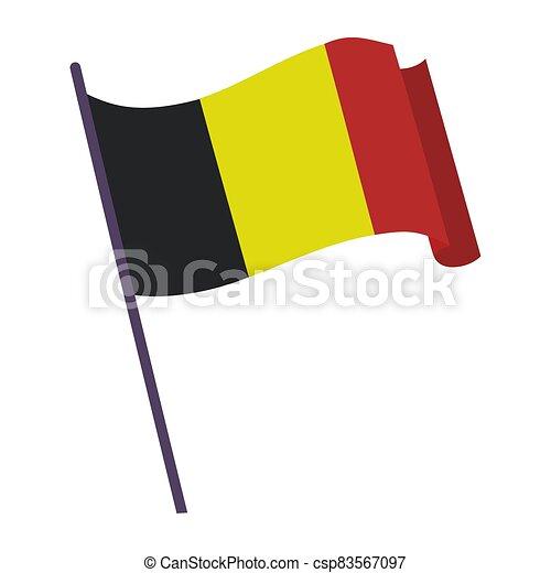 Waving flag of Belgium - csp83567097