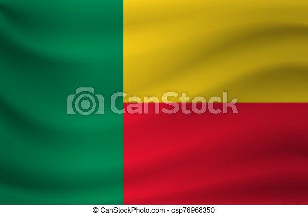 Waving flag of Benin. Vector illustration - csp76968350