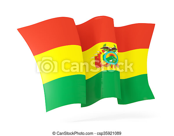 Waving flag of bolivia. 3D illustration - csp35921089