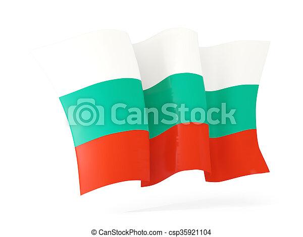 Waving flag of bulgaria. 3D illustration - csp35921104