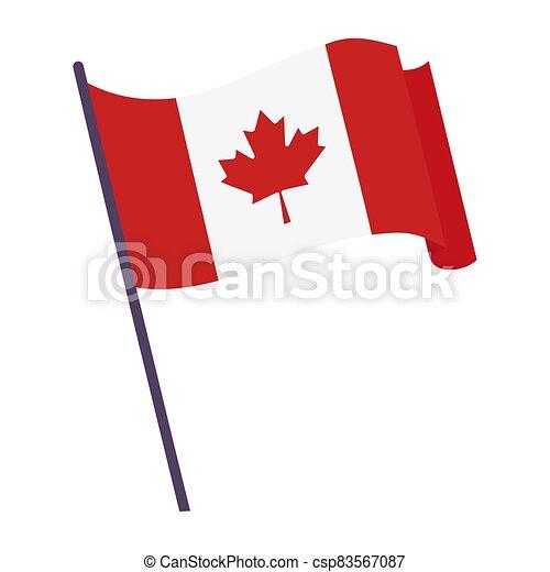 Waving flag of Canada - csp83567087