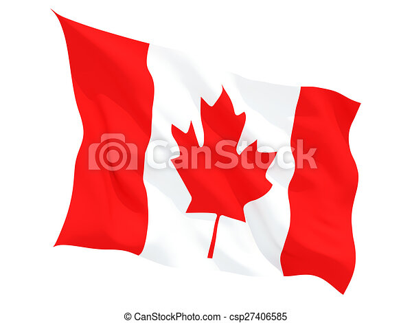 Waving flag of canada - csp27406585