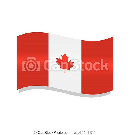 Waving flag of Canada - csp80446811