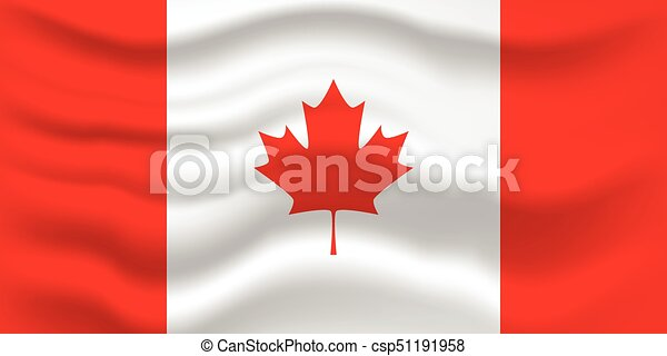 Waving flag of Canada. Vector illustration for your design. - csp51191958