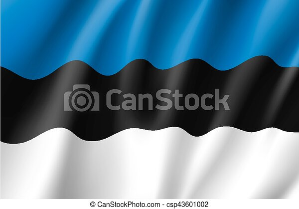 Waving flag of Estonia - csp43601002