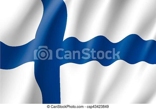 Waving flag of Finland - csp43423849