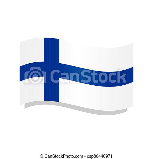 Waving flag of Finland - csp80446971
