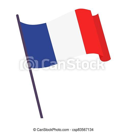 Waving flag of France - csp83567134