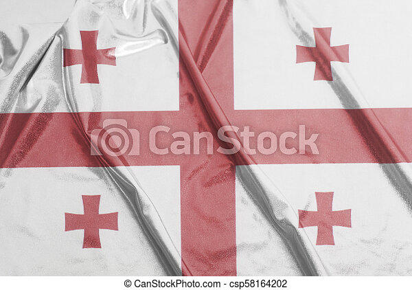 Waving Flag of Georgia - csp58164202