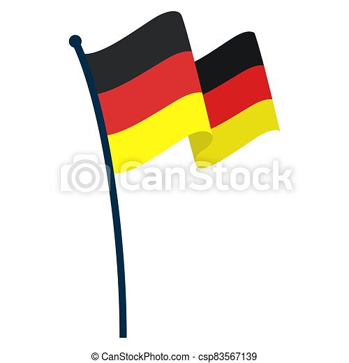 Waving flag of Germany - csp83567139