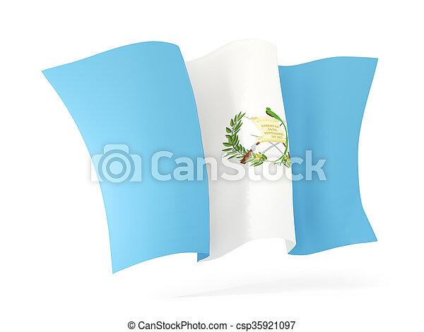 Waving flag of guatemala. 3D illustration - csp35921097