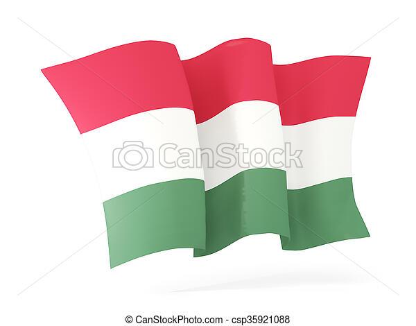 Waving flag of hungary. 3D illustration - csp35921088