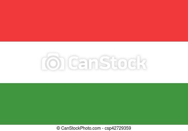 Waving flag of Hungary - csp42729359