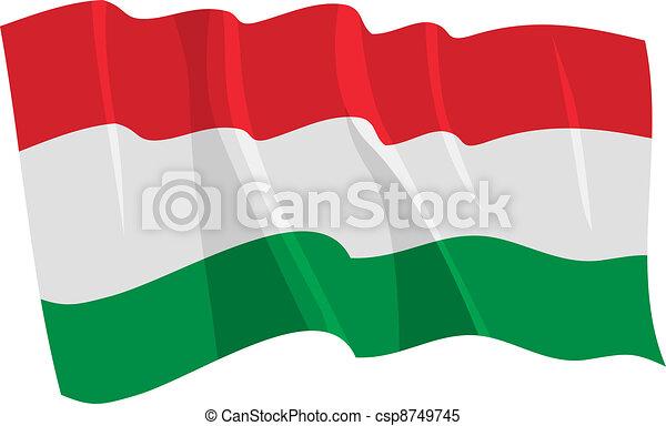 waving flag of Hungary - csp8749745