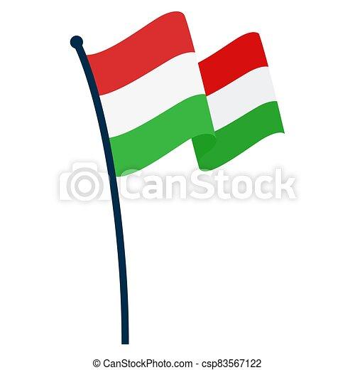 Waving flag of Hungary - csp83567122