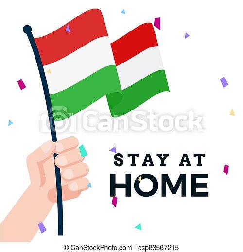 Waving flag of Hungary - csp83567215