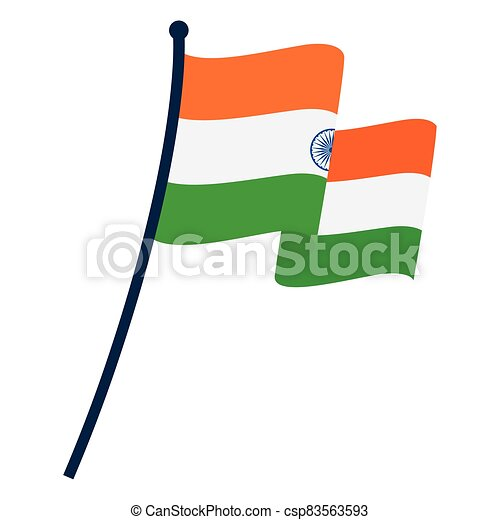 Waving flag of India - csp83563593