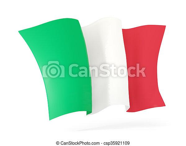 Waving flag of italy. 3D illustration - csp35921109