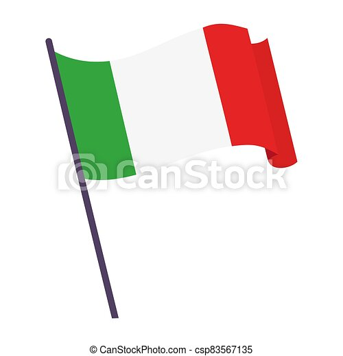 Waving flag of Italy - csp83567135