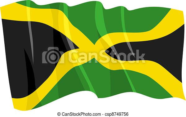 waving flag of Jamaica - csp8749756