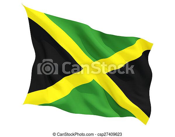 Waving flag of jamaica - csp27409623
