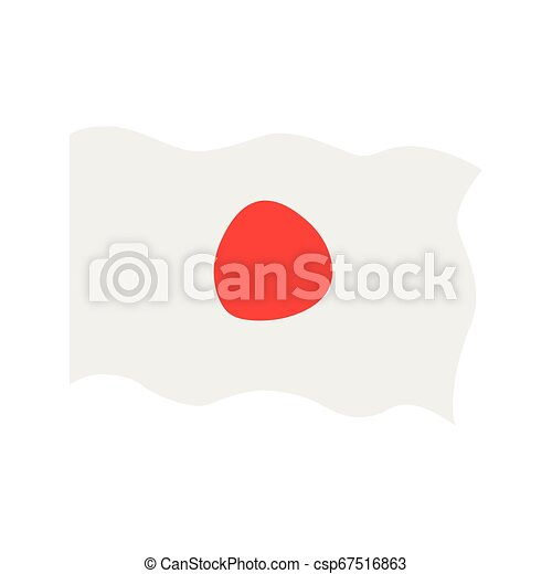 Waving flag of Japan - csp67516863