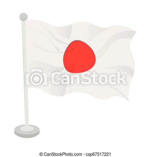 Waving flag of Japan - csp67517221