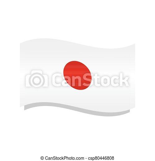 Waving flag of Japan - csp80446808