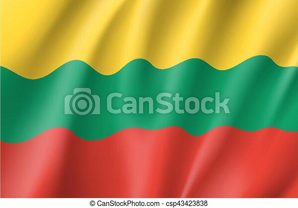 Waving flag of Lithuania - csp43423838