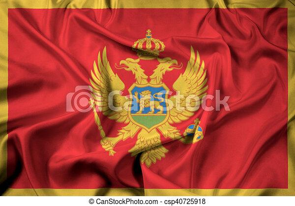 Waving Flag of Montenegro - csp40725918