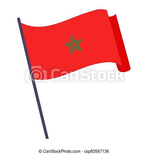 Waving flag of Morocco - csp83567136