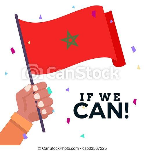 Waving flag of Morocco - csp83567225