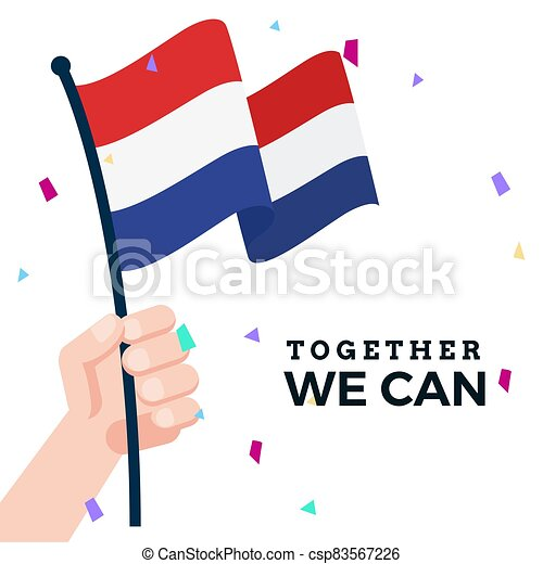 Waving flag of Netherlands - csp83567226