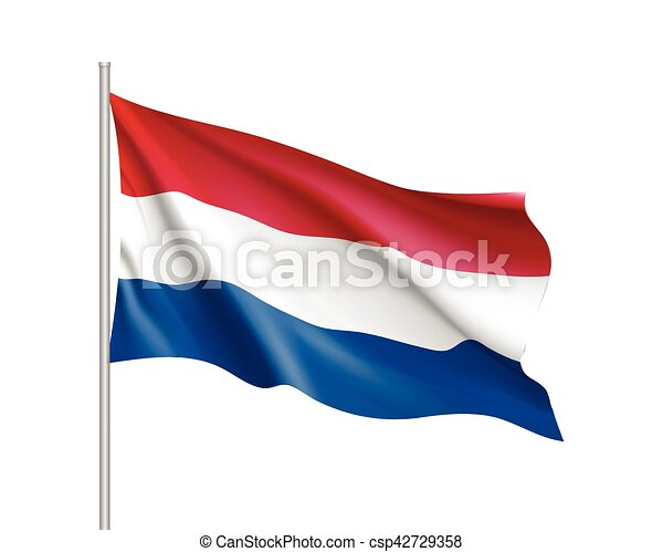 Waving flag of Netherlands state. - csp42729358