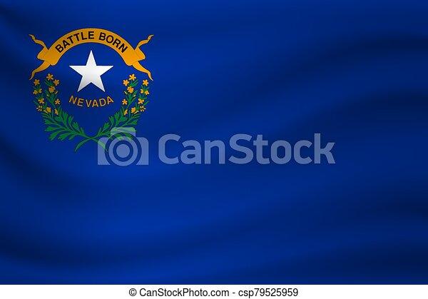 Waving flag of Nevada. Vector illustration - csp79525959