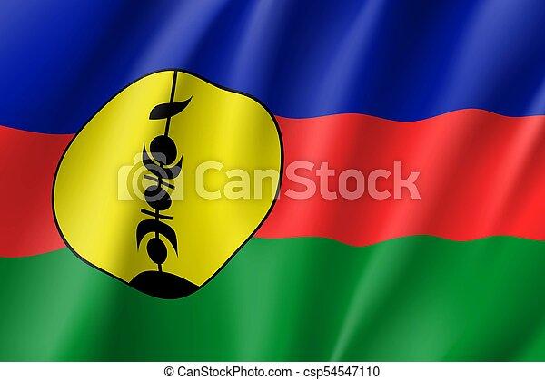 Waving flag of New Caledonia - csp54547110