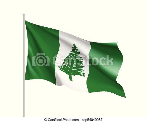 Waving flag of Norfolk Island - csp54049987