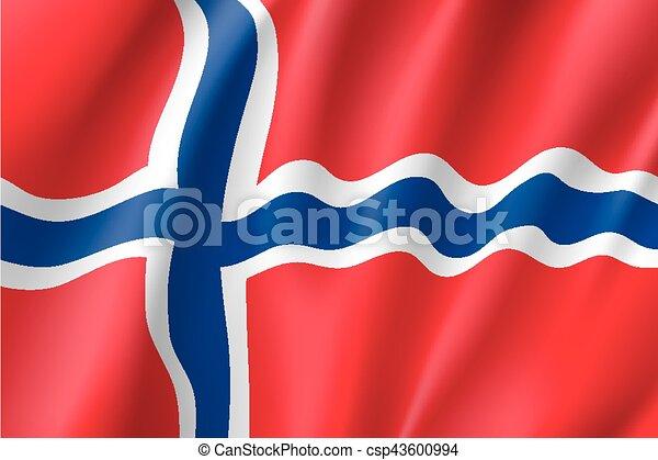 Waving flag of Norway - csp43600994
