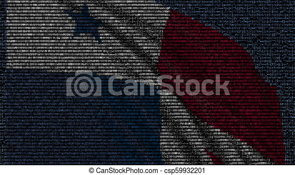 Waving Flag Of Panama Made Of Text Symbols On A Computer Screen