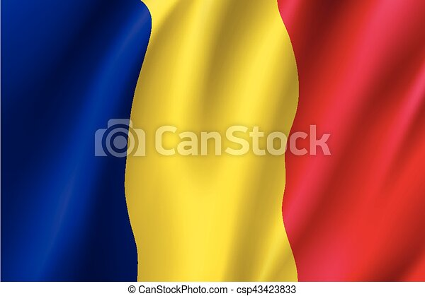 Waving flag of Romania - csp43423833