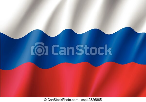 Waving flag of Russia - csp42826865