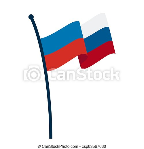 Waving flag of Russia - csp83567080