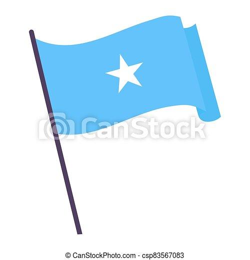 Waving flag of Somalia - csp83567083