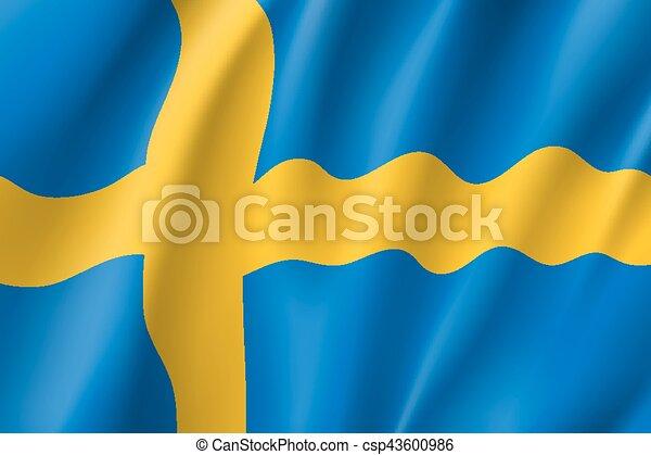 Waving flag of Sweden - csp43600986