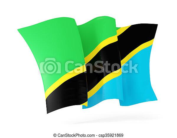 Waving flag of tanzania. 3D illustration - csp35921869