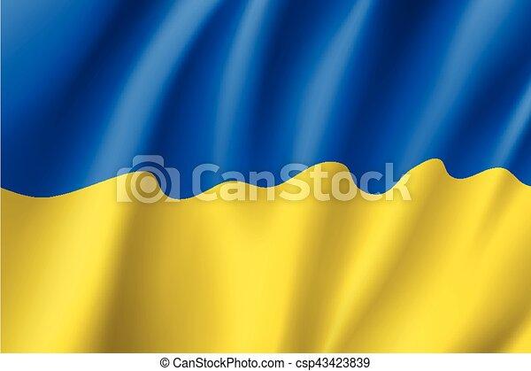 Waving flag of Ukraine - csp43423839